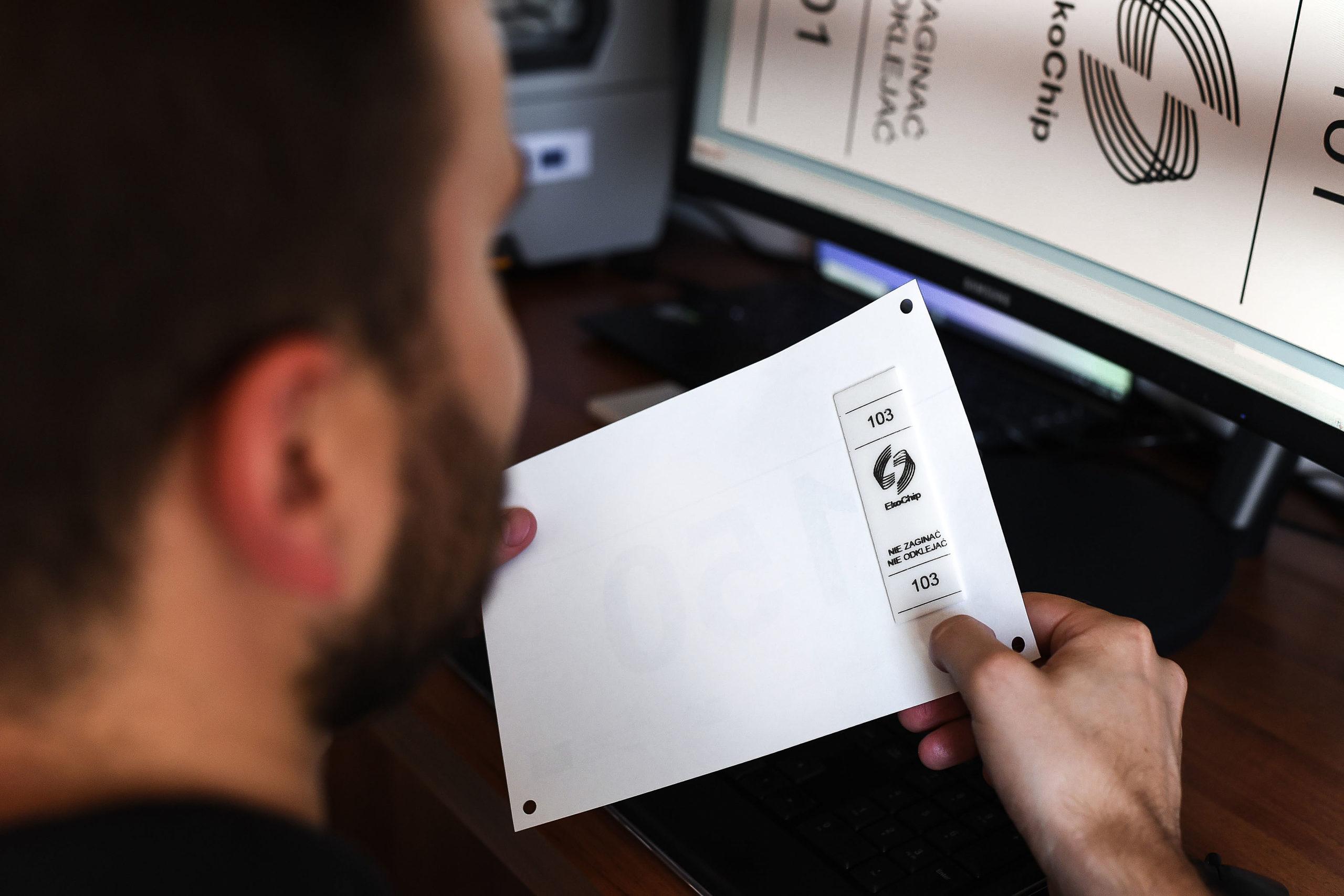 EkoChip RFID do elektroniczego pomiaru